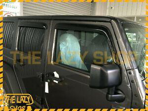 Weathershields, Weather Shields for Jeep Wrangler JK 07-18 Sun Visors Luxury