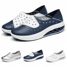 Womens Outdoor Casual Slip On Wedge Walking Sneakers Shoes Sports Loafers Soft L