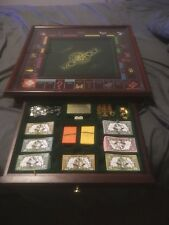 1991 Franklin Mint Collectors Edition Monopoly Game Board with Top Glass Cover