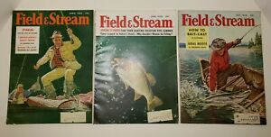 Vintage Field & Stream magazine April June and July 1958