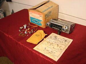 68 CHEVELLE ELCAMINO NOS DELCO PUSH BUTTON AM RADIO # 7303131