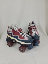 Britney Spears Skechers Retro Roller Skates 4 Wheelers Blue Red White - Size 7