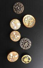 Boutons Ancien Corne Nacre Vintage Buttons