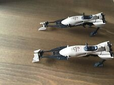 Two Vintage Star Wars Speeder Bike Vehicles