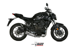 FULL EXHAUST SYSTEM MIVV DELTA RACE STEEL LOW WITHOUT KAT YAMAHA MT-07 14 20