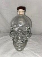 Crystal Head Vodka Bottle Clear Skull Empty Decanter Decor By Dan Akroyd 750ML