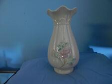 Irish Belleek Vase flowers pattern vintage perfect brown mark  40 years Perfect