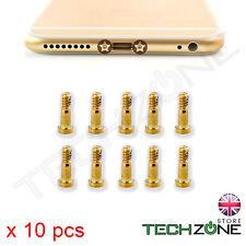 10 x Bottom Screws Pentalobe Gold Screw set for Apple iPhone 6S & iPhone 6S Plus