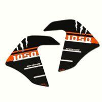 Adesivi 3D protezioni laterali compatibili con Ktm 1050 Adventure - nero