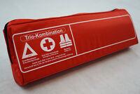 ROT TRIO 3in1 Kombitasche Verbandtasche Warnweste Warndreieck Verbandkasten Auto