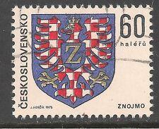 Czechoslovakia #2001 (A590) VF USED - 1975 60h Arms Of City Of Znojmo