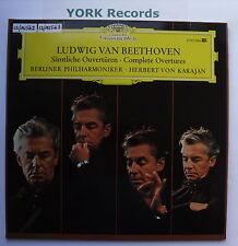 DG 2707 046 - BEETHOVEN - Complete Overtures KARAJAN BPO - Ex Double LP Record
