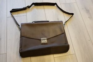 Lotus Leather Nylon Portfolio Briefcase Bag Limited Edition