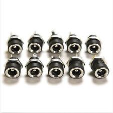 5.5 x 2.1mm 10pcs DC Power Supplies Jack Socket Female Panel Mount Connectors