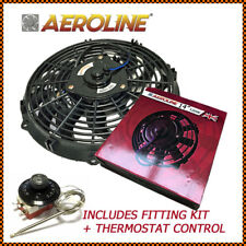 "14"" Aeroline 12v 120w Electric Radiator Cooling Fan + Capillary Thermostat"