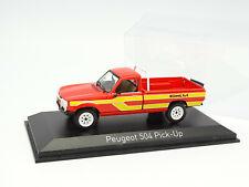 Norev 1/43 - Peugeot 504 Pick Up 4x4 Dangel Rouge et Jaune