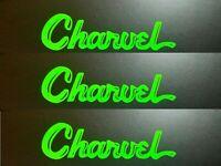 Charvel Guitar INVERTED Headstock Toothpaste Logo, OEM Die-Cut Vinyl Decal GREEN