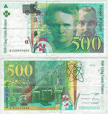 BILLET 500  FRANCS PIERRE ET MARIE CURIE 1994 K 020049693