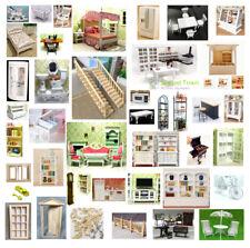 1/12 Dolls House Miniature Bedroom Kitchen Living Room Furniture Set Bed Cabinet