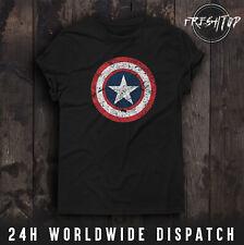 Captain America T Shirt Shield Logo Avengers Endgame Thanos Hulk Iron Man Thor