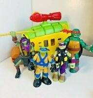 Teenage Mutant Ninja Turtles TMNT Shellraiser Vehicle Action Figure Toy Bundle