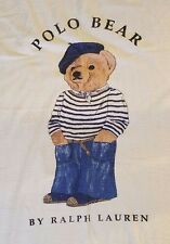 POLO BEAR on Beret,Capri,Scarf,Breton shirt By Ralph Lauren Beach Towel USA made