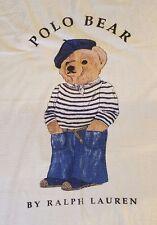POLO BEAR on Beret,Capri,Scarf,Breton shirt By Ralph Lauren Beach Towel USA made