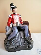 LARGE RARE MICHAEL SUTTY PORCELAIN FIGURE - Grenadier  - with Dog and Tankard