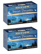 Bigelow Sweet Dreams Herbal Tea - 2 Boxes - 40 Tea Bags