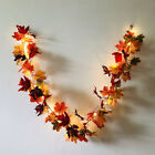 Halloween Led Light Autumn Fall Maple Leaves Garland Hanging Plant Home Decor Uk