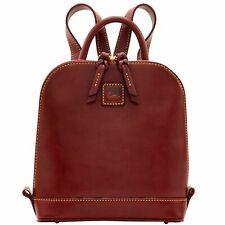 Dooney & Bourke Backpack Pod Leather Caramel Double Zip-around Florentine