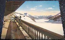 Switzerland Jungfraujoch Berghaus Galerie und Aletschgletscher - unposted