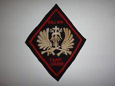 RECON TEAM LEADER 5th SFGrp MACV-SOG RT ILLINOIS CCC Vietnam War Hand Sewn Patch