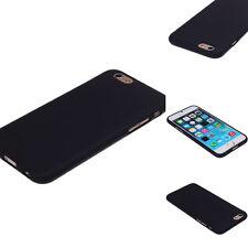 Klassisch Rubber Soft TPU Case Silikon Cover Für iPhone 6 / 6S 4.7inch Schwarz