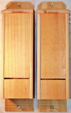 2 Triple Chamber Cedar Bat Houses Hand Crafted Natural Pest Control