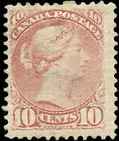 Mint H Canada F+ Scott #40 10c 1877 Small Queen Issue Stamp