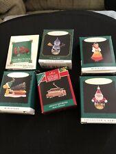hallmark miniature christmas ornaments lot 6