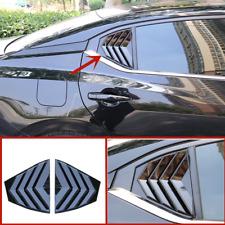 Black Rear Quarter Panel Window Side Louvers Vent trim For Nissan Sentra 2020