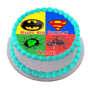 Superhero EDIBLE ICING CAKE Topper   IMAGE FROSTING SHEET