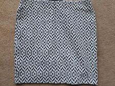 Fab Ladies Cream /Black Mix Mini Skirt, UK size 8