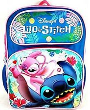 """Disney Lilo Stitch Deluxe 3d Embossed 16"""" School Bag Backpack"""
