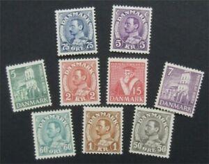 nystamps Denmark Stamp # 239//255 Mint OG H      S24x368