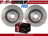 FORD FOCUS RS RS500 MK2 FRONT DRILLED BRAKE DISCS MINTEX SPORT BRAKE PADS
