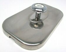 Vintage Soda Fountain Ice Cream Topping Dispenser Stainless Top Lid Strawberry