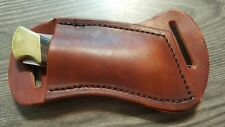 Buck 110 Cross Draw leather knife sheath .  Brown