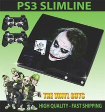 Playstation 3 Slim Ps3 Slim por qué tan grave Joker 001 etiqueta engomada de la piel y 2 Pad Skins