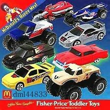 2001 McDonalds Hot Wheels MIP Complete Set - Lot of 8, Boys, 3+