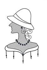 Schmuckhalter für die Wand Lady 5 Haken Metall sehr edel Madame für Ketten Ring