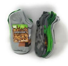 MINECRAFT No Show Socks Boys Small 5 PACK Free Shipping