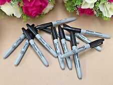 12 x Black Permanent Marker Pen Set Fine Point Craft Office Fast Dying Texta